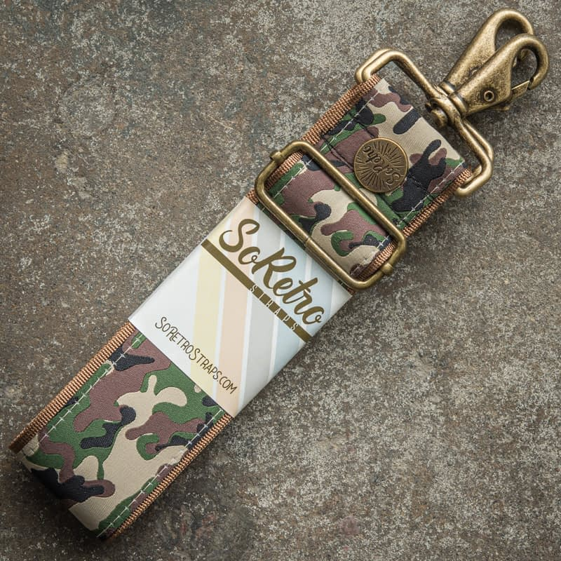 Camo Soldier - Leather Free Bag or Camera Strap