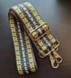 Custom Vegan SoRetro Bag, Camera & Purse Strap with Metal - Adjustable