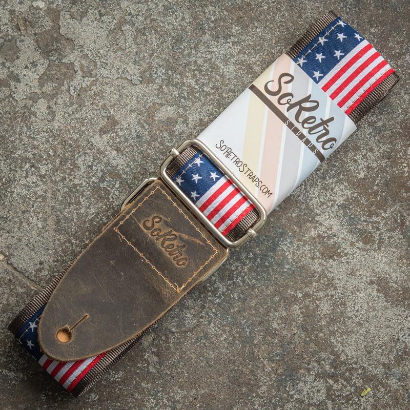American Flag - Guitar Strap