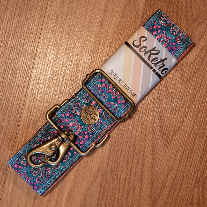 Paisley Paradise - Leather Free Bag or Camera Strap