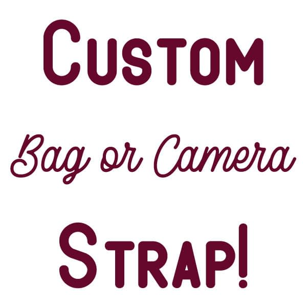 Custom Bag or Camera Strap with Leather Ends